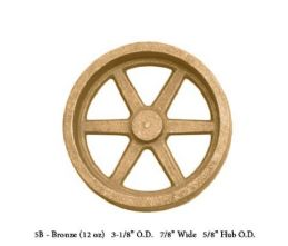 Unmachined Bronze Flywheel.Aprox 3 1/8 Dia  x7/8 W X 5/8 Hub Dia